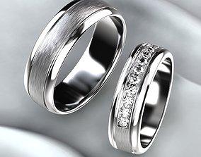 3D print model Wedding Satin Golden Rings