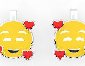 childrens earrings smile 3D printable model
