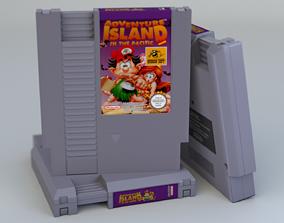 3D asset Photorealistic NES cartridge