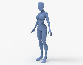 Cartoon Woman Base Mesh 3D print model