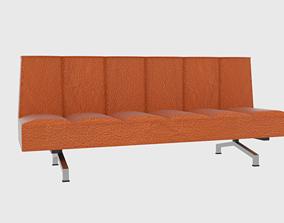 Flex Orange Sleeper Sofa CB2 3D model