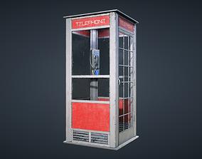 3D model VR / AR ready Telephone Booth