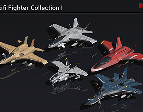 3D Scifi Fighter Collection I