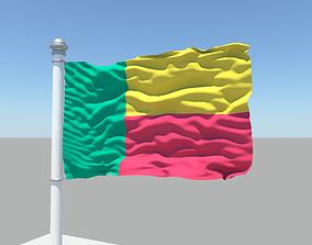 3D model Benin flag