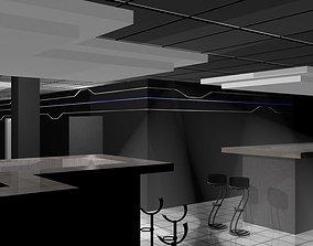 architecture night club 3D