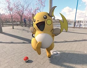 3D asset Pokemon Raichu 2