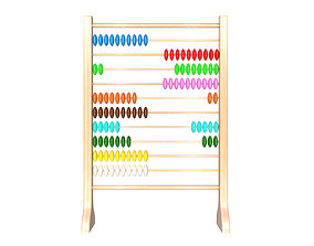 3D asset Abacus Wooden Educational Toy