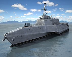 USS Independence LCS-2 ship 3D