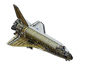 SPACE SHUTTLE Atlantis Interior and Exterior 3D model