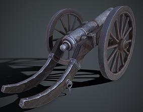 3D asset Medieval Siege Cannon