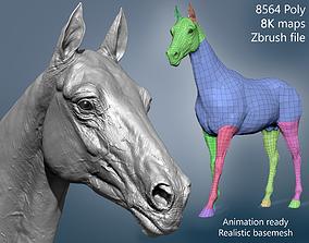 Realistic Horse Basemesh with LOD s 3D model