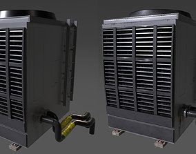 roof 3D asset game-ready Rooftop Air Conditioner