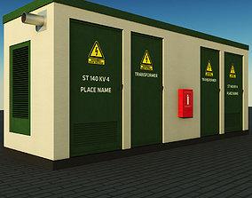 Transformer electric power station 3D asset