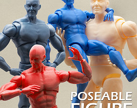 Articulated Poseable Male Figure 3D print model