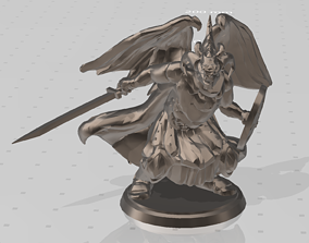 3D print model Dragonborn With wings combat