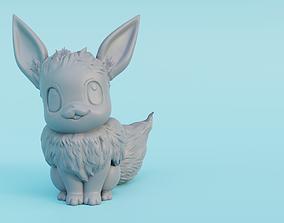games 3D print model Male Eevee with floofy hair