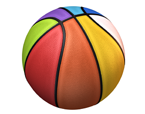 3D model Basket Ball 8 color