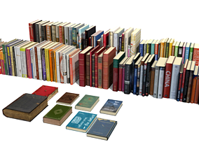 books hardcover-book 3D model