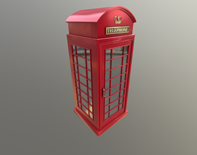 3D model UK Telephone Booth