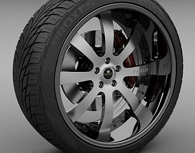 3D Savini Forged SV-28S Wheel and Tire