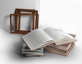 3D Stack of Books with Frames