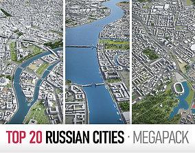 Top Russian Cities MEGAPACK 3D chelyabinsk