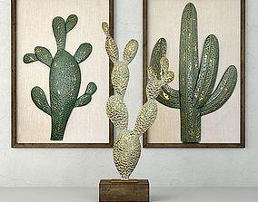 3D Metal Cactus Sculptures