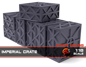 3D printable model Star Wars Imperial Crate 1-18 scale