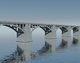 cable Bridge 3D model realtime