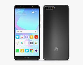 Huawei Y6 2018 Black phone 3D