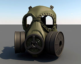 Gas Mask 3D model VR / AR ready