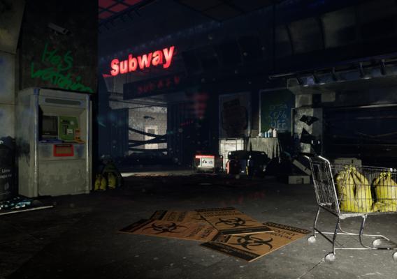 Subway Post Apocalyptic Station