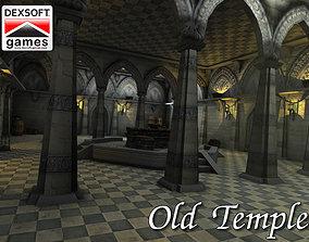3D asset low-poly Old Temple