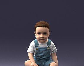 3D model Baby sitting 0618