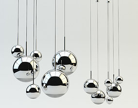3D Mirror Ball Pendant Chrome Light