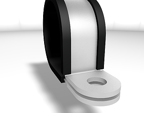 Steel clamp with rubber protection 3D asset