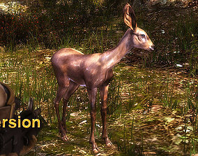 animated low-poly 3DRT - Fawn