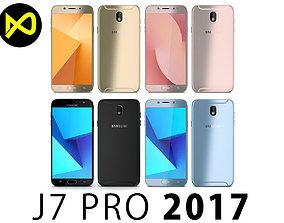 3D model Samsung Galaxy J7 Pro 2017 All Colors