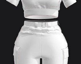 3D Pocket T Shirts and Cargo Shorts Set Marvelous designer