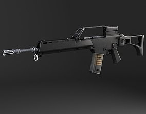 3D model Heckler Koch G36 assault rifle european