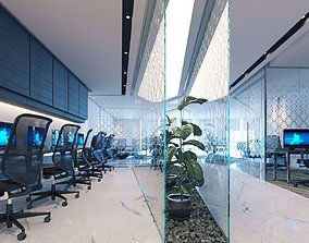 Office interior design 01 3D model