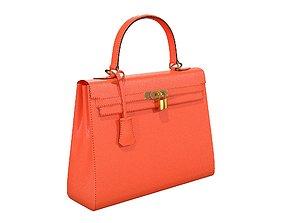 Hermes Kelly Bag Orange 3D asset
