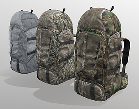 3D asset Backpack for hunting hiking traveling