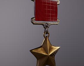 3D asset Medal Gold Star