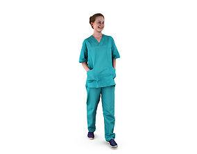 Nurse Walking 3D model low-poly