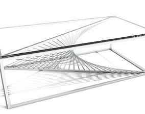 Sprial Wire Base Coffee Table 3D