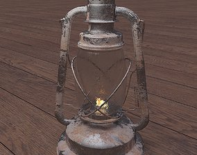 Old Rusty Gas Lamp - Paraffin Lamp 3D model