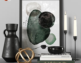 candlesticks Decorative set 3D
