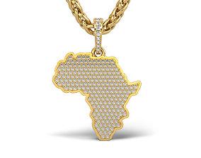 3D print model Africa pendant