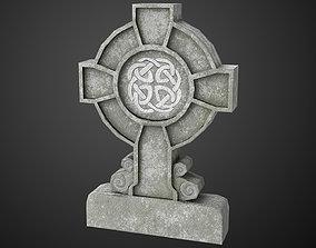 3D asset Celtic Tombstone 02